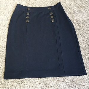 Banana Republic Navy Button Pencil Skirt!